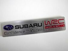 Subaru Confidence in Motion Embossed Metal Badge Emblem Sticker STI WRX BRZ VX
