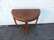 Art Deco Small Demi Lune Inlay Console Table Side Table / End Table   8123
