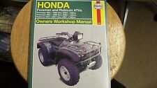 NOS Honda Haynes Workshop Manual 1995-04 Foreman 400/450 2001-07 Rubicon 500