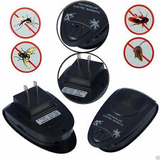 Black Ultrasonic Electronic Pest roach Bug Mouse Insect Mosquito Repeller Best E