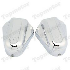Chrome Bar Shield Rear Axle Covers Swingarm Cap For For Harley Softail 2008-2017
