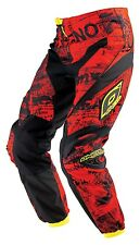 ONeal Element Toxic Motocross Pants Red Black Yellow Adult Size 34 ATV Dirt Bike