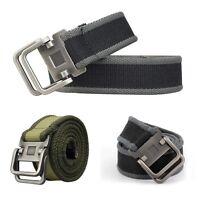 NEU STOFFGÜRTEL CANVAS 4cm breit Belt Hosen Jeans Herrengürtel Gürtel Geschenk
