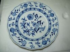 Beautiful Antique 1900-1910 Marked Meissen Zwiebelmuster Deep Plate,  D 24.7 cm