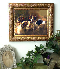 Osthaus Four POINTERS Dog Art Print Antique Style SMALL Framed horse