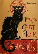 "TARGA VINTAGE ""TOURNEE DU CHAT NOIR""Pubblicità, Advertising, Poster, Retro Plate"