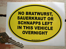 No BRATWURST etc funny German van/car sticker VW Camper, Caddy MB Sprinter etc