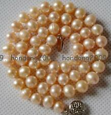 7-8mm Pink Akoya Cultured Pearl Necklace 17""