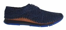 NWT $980 DOLCE & GABBANA Sneaker Shoes Blue Raffia Mens Sport Casual EU42 / US9
