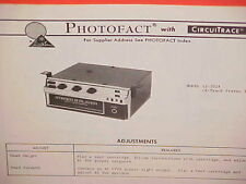 1973 REALISTIC CAR AUTO 8-TRACK STEREO TAPE PLAYER SERVICE SHOP MANUAL 12-2024