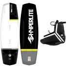 New 2015 Hyperlite Destroyer Mens Wakeboard Package with Agent Bindings