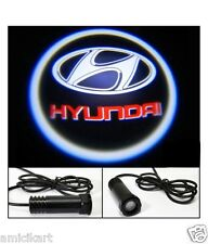 2 PCS Car Logo LED Ghost Shadow Welcome Light Door Projector For HYUNDAI