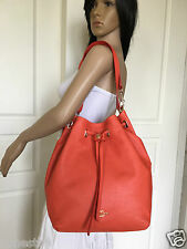 NWT COACH LARGE SEXY ORANGE LEATHER GATHERED SHOULDER HOBO CROSSBODY BAG PURSE
