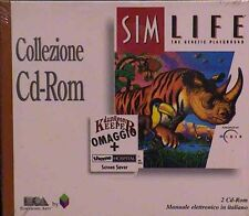 SIM LIFE pc cd rom NUOVO SIGILLATO the genetic playground giochi simulator