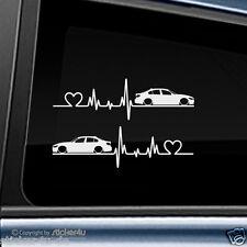 (1497) 2x Fun Sticker Aufkleber / Herzschlag BMW F30 Limousine M3 Motorsport