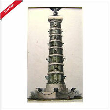 ENGRAVINGS NAPOLEON ACKERMANS COLUMN OF CANNON 1813