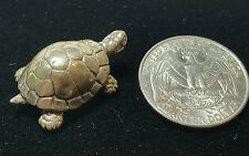 Vintage Italian .800 Coin Silver Mini Turtle Figurine Collectible Stamped 105 AR
