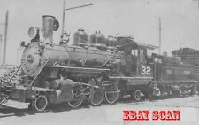 6EE999G NOT RP 1940 TIDEWATER & SOUTHERN RAILROAD ENGINE #32 MODESTO CA 1st DAY
