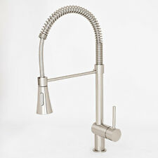 """NEW 22"""" Brushed Nickel Kitchen Faucet Bar Sink Pull-Out Swivel Spout Holding Arm"""