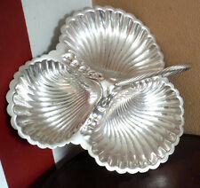 EARLY 1900s SHEFFIELD SILVERPLATED TREFOIL - NAUTILUS FOOTED - HUTTON