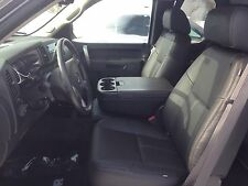 2010 2011 2012 2013 KATZKIN BLACK LEATHER SEAT COVER SILVERADO SIERRA CREW CAB