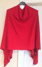 Ladies Italian Lagenlook Angora Wool Mix Knitted Draped Poncho Cape Wrap Shawl