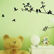 Removable Tree Bird Art Vinyl Quote Wall Sticker Decal Mural Home Room Decor AY