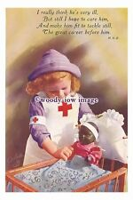rp01610 - Children - Young Girl in Nurses Uniform with her doll - photograph