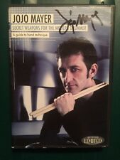 JoJo Mayer - Secret Weapons for the Modern Drummer DVD 2-Disc Autographed Signed