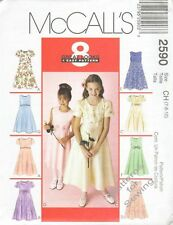 Pattern McCalls Sewing Girl Special Occasion Flower Church Dress Sz 4-6 NEW OP