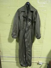 vtg 60s army green coveralls mechanic grease workwear boiler suit utility unisex