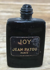 EMPTY Perfume Joy Jean Patou Paris Black Blue Miniature Tiny French Glass Bottle