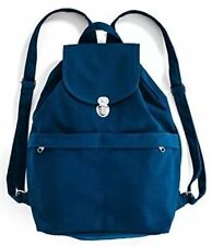 BAGGU Canvas Backpack Indigo Zipper Drawstring Front Pockets NWT ~ FREE SHIPPING