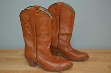 FRYE 7065 WOMENS SIZE 9 1/2 B WESTERN STACKED HEEL COWGIRL BOOTS GREAT SHAPE