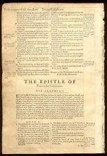 1569 Geneva 2nd Quarto Roman Letter Bible Leaf/RARE/PHILIPPIANS 4/COLOSSIANS!