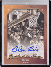 "2009-10 UD GREATS OF THE GAME GLEN RICE ""WOLVERINES/HORNETS/HEAT"" AUTOGRAPH AUTO"