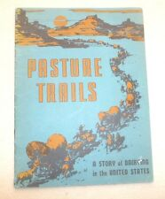 PASTURE TRAILS A STORY OF DAIRYING IN THE USA NEW YORK w/ CARTOON MAP 1944