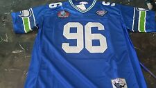 New Throwback Jersey Cortez Kennedy #96 Seattle Seahawks Blue Size M Medium