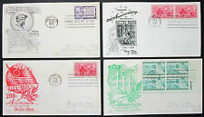 US Anniversary postage set of 4 covers Letters envelopes FDC USA lettere (h-8325
