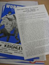 26/02/1978 Rugby League Programme: Workington Town v Keighley [Challenge Cup] Pr