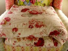 NWOT WAVERLY NORFOLK ROSE REVERSIBLE STRIPE SHABBY CHIC 63x86 TWIN COMFORTER NEW
