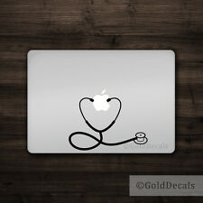 Stethoscope - Mac Apple Logo Laptop Vinyl Decal Sticker Macbook Nurse Doctor