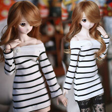 1/3 BJD LUTS SD PULLI DOT LATI Clothes Dew Shoulder Sweet Stripe Dress/Outfit