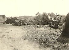 WWII German Luftwaffe RP- Airplane Cannibalization Yard- Wings- Parts- France 40