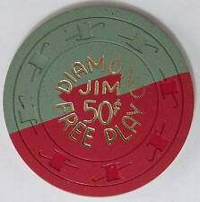 1962 Diamond Jim .50 Free Play 8th Edition Casino Gaming Chip Las Vegas, NV