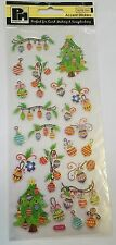 Papermania Accent Stickers Christmas Theme Baubles & Trees