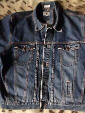 Backroad Blues Giacca di Jeans Assegno Plaid Tartan Foderato Western Camionista molto Grunge