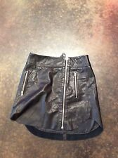 alexander mcqueen Black Leather Zipper Skirt 40 4-6