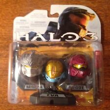 HALO 3 HELMET PACK!!! 3PK W/ WHITE HAYABUSA, TEAL EVA, AND RED ROGUE !!