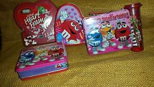 Set of 4 M&M Valentine Containers